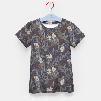 Thumbnail image of Bathing kitties in ochre tropical lush Kid's t-shirt, Live Heroes