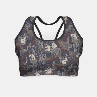 Thumbnail image of Bathing kitties in ochre tropical lush Crop Top, Live Heroes