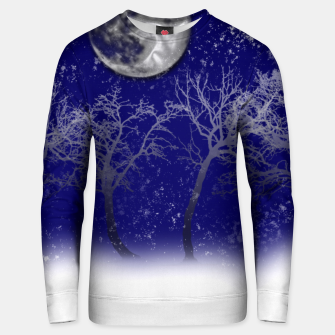 Thumbnail image of Blue Moon Snow Trees Unisex sweater, Live Heroes