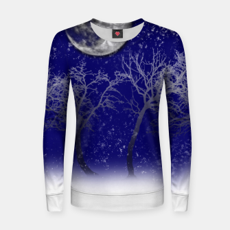 Thumbnail image of Blue Moon Snow Trees Women sweater, Live Heroes