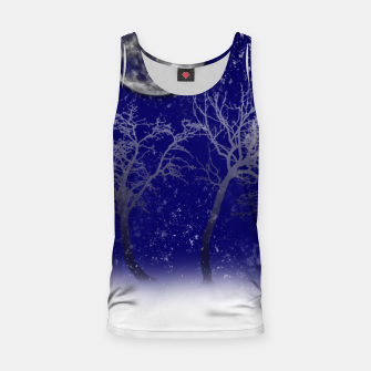 Miniatur Blue Moon Snow Trees Tank Top, Live Heroes