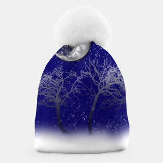 Thumbnail image of Blue Moon Snow Trees Beanie, Live Heroes