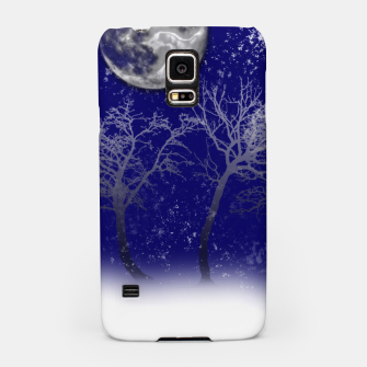 Miniatur Blue Moon Snow Trees Samsung Case, Live Heroes