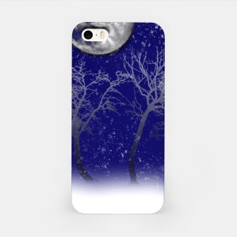 Thumbnail image of Blue Moon Snow Trees iPhone Case, Live Heroes