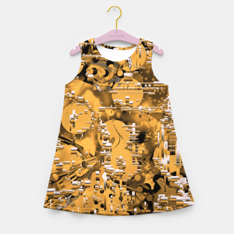 Miniaturka Yellow trinity Girl's summer dress, Live Heroes