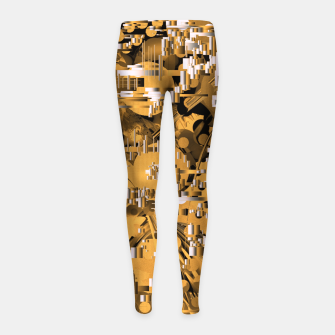 Miniaturka Yellow trinity Girl's leggings, Live Heroes