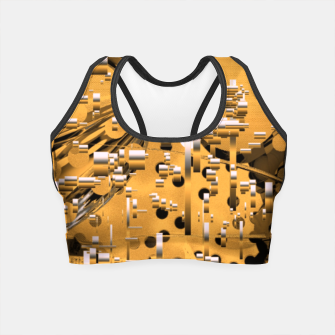 Miniaturka Yellow trinity Crop Top, Live Heroes