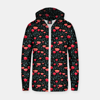 Thumbnail image of Poppy Field Zip up hoodie, Live Heroes