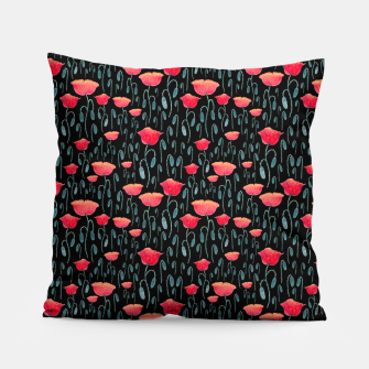 Miniatur Poppy Field Pillow, Live Heroes