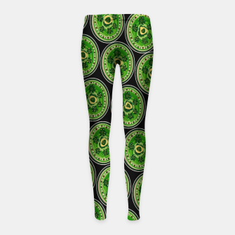 Thumbnail image of Green Pearl  Leggings para niña, Live Heroes
