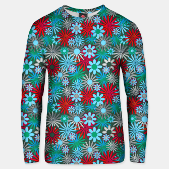 Thumbnail image of Red and Blue Green Daisies Unisex sweater, Live Heroes