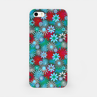 Thumbnail image of Red and Blue Green Daisies iPhone Case, Live Heroes
