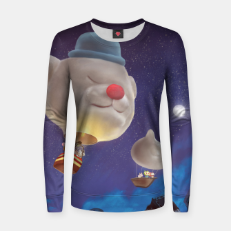 Thumbnail image of Hot Air Balloon Women sweater, Live Heroes