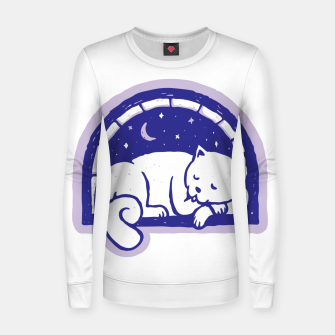 Thumbnail image of Cat Sleep Women sweater, Live Heroes