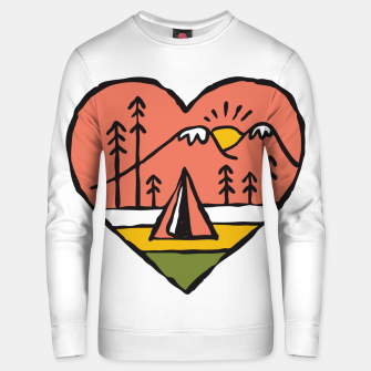 Thumbnail image of Camping in Love Unisex sweater, Live Heroes