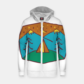 Thumbnail image of Camp Night Zip up hoodie, Live Heroes