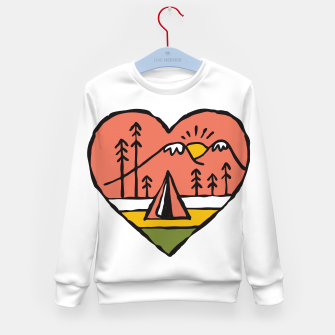 Thumbnail image of Camping in Love Kid's sweater, Live Heroes