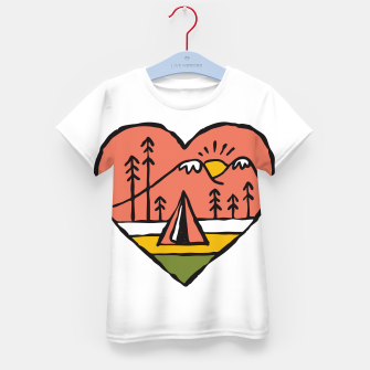 Thumbnail image of Camping in Love Kid's t-shirt, Live Heroes
