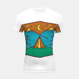 Thumbnail image of Camp Night Shortsleeve rashguard, Live Heroes