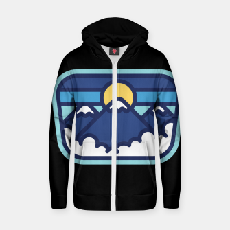Thumbnail image of Mountain Line Zip up hoodie, Live Heroes