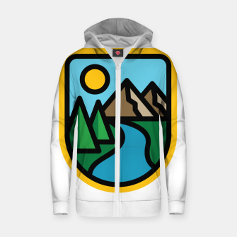 Thumbnail image of River Line Zip up hoodie, Live Heroes