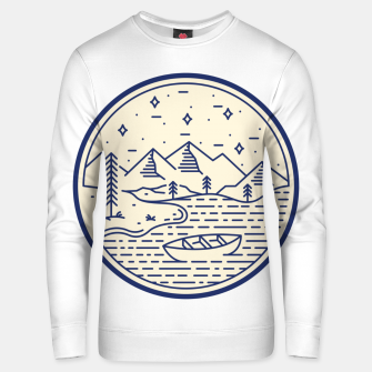 Lake and Canoe Unisex sweater Bild der Miniatur