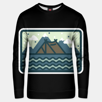 Camp Mountain Beach View Unisex sweater Bild der Miniatur