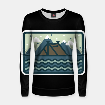 Camp Mountain Beach View Women sweater Bild der Miniatur