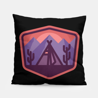 Thumbnail image of Camp & Cactus Pillow, Live Heroes