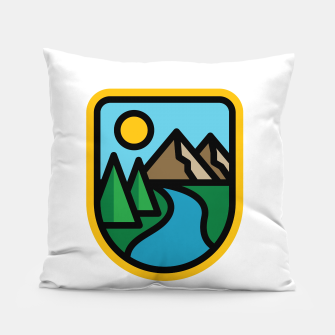 Thumbnail image of River Line Pillow, Live Heroes