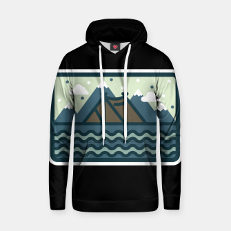 Camp Mountain Beach View Hoodie Bild der Miniatur