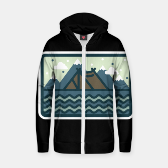 Camp Mountain Beach View Zip up hoodie Bild der Miniatur