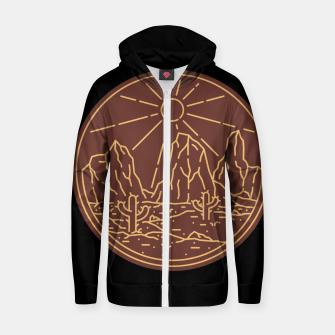 Beauty Desert Zip up hoodie Bild der Miniatur
