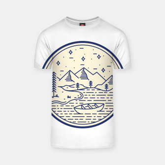 Lake and Canoe T-shirt Bild der Miniatur