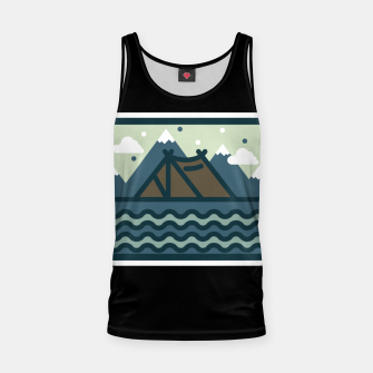 Camp Mountain Beach View Tank Top Bild der Miniatur