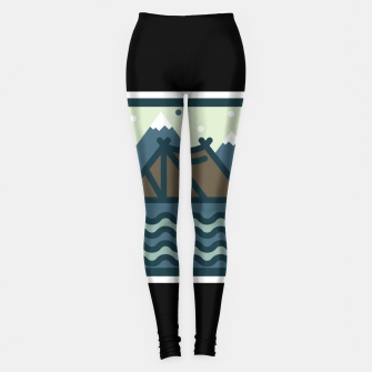 Camp Mountain Beach View Leggings Bild der Miniatur