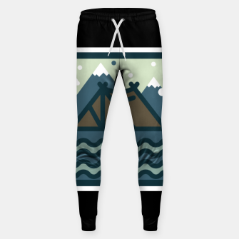 Camp Mountain Beach View Sweatpants Bild der Miniatur