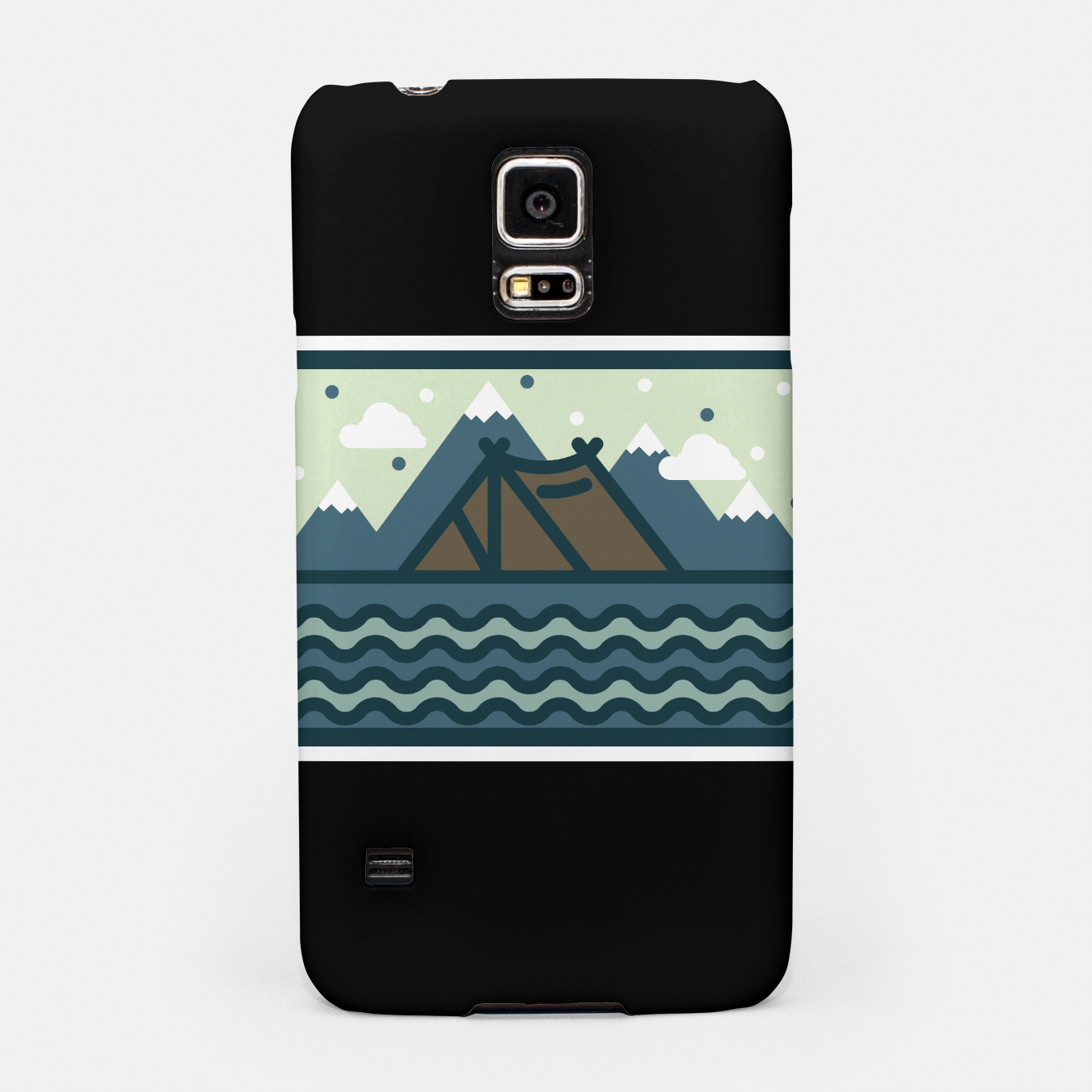 Foto Camp Mountain Beach View Samsung Case - Live Heroes