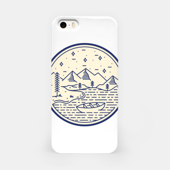 Lake and Canoe iPhone Case Bild der Miniatur