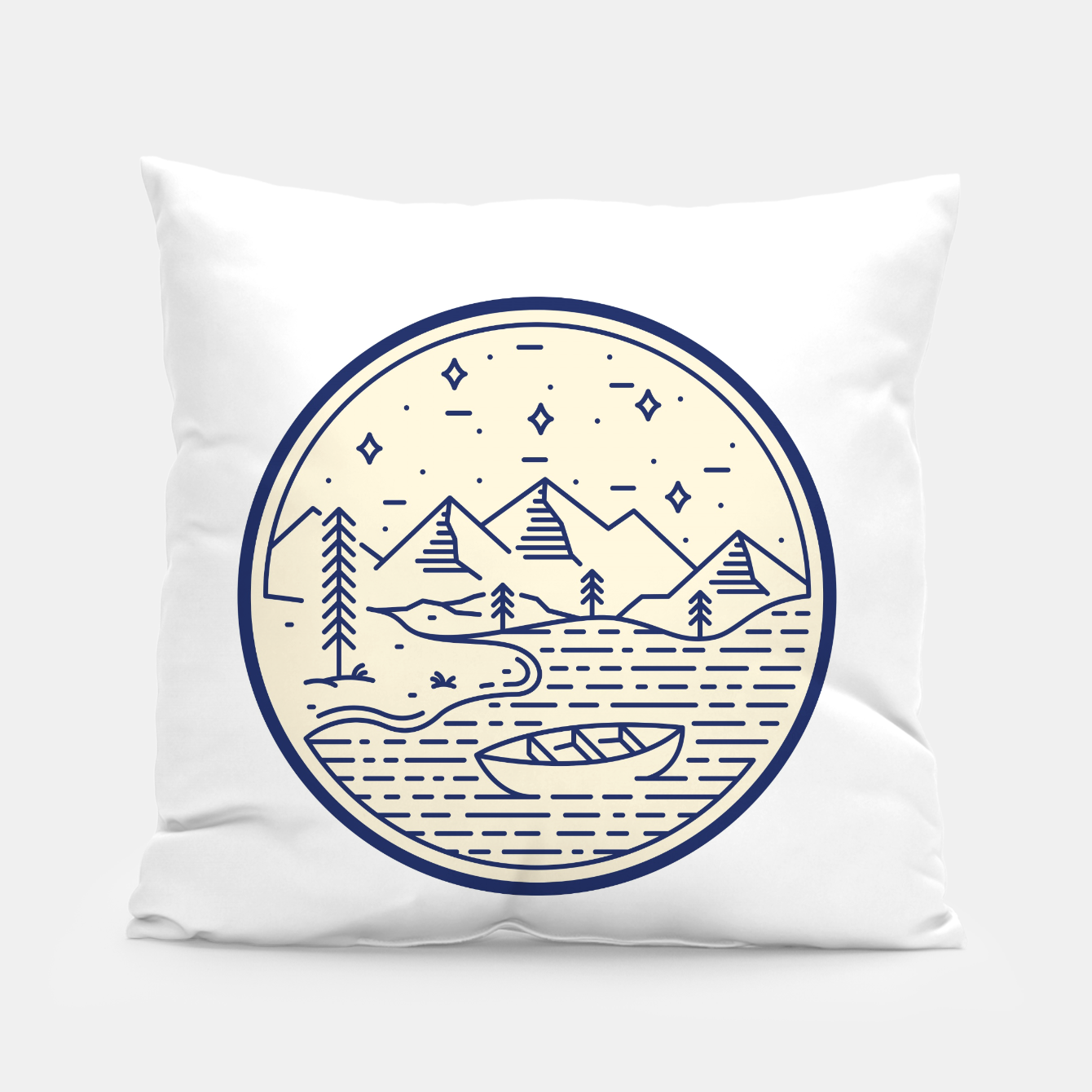 Foto Lake and Canoe Pillow - Live Heroes