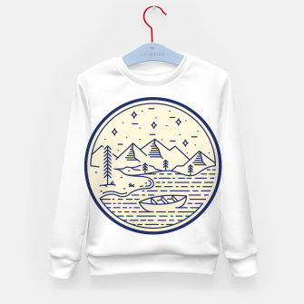 Lake and Canoe Kid's sweater Bild der Miniatur
