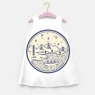 Lake and Canoe Girl's summer dress Bild der Miniatur