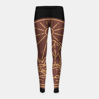 Beauty Desert Girl's leggings Bild der Miniatur