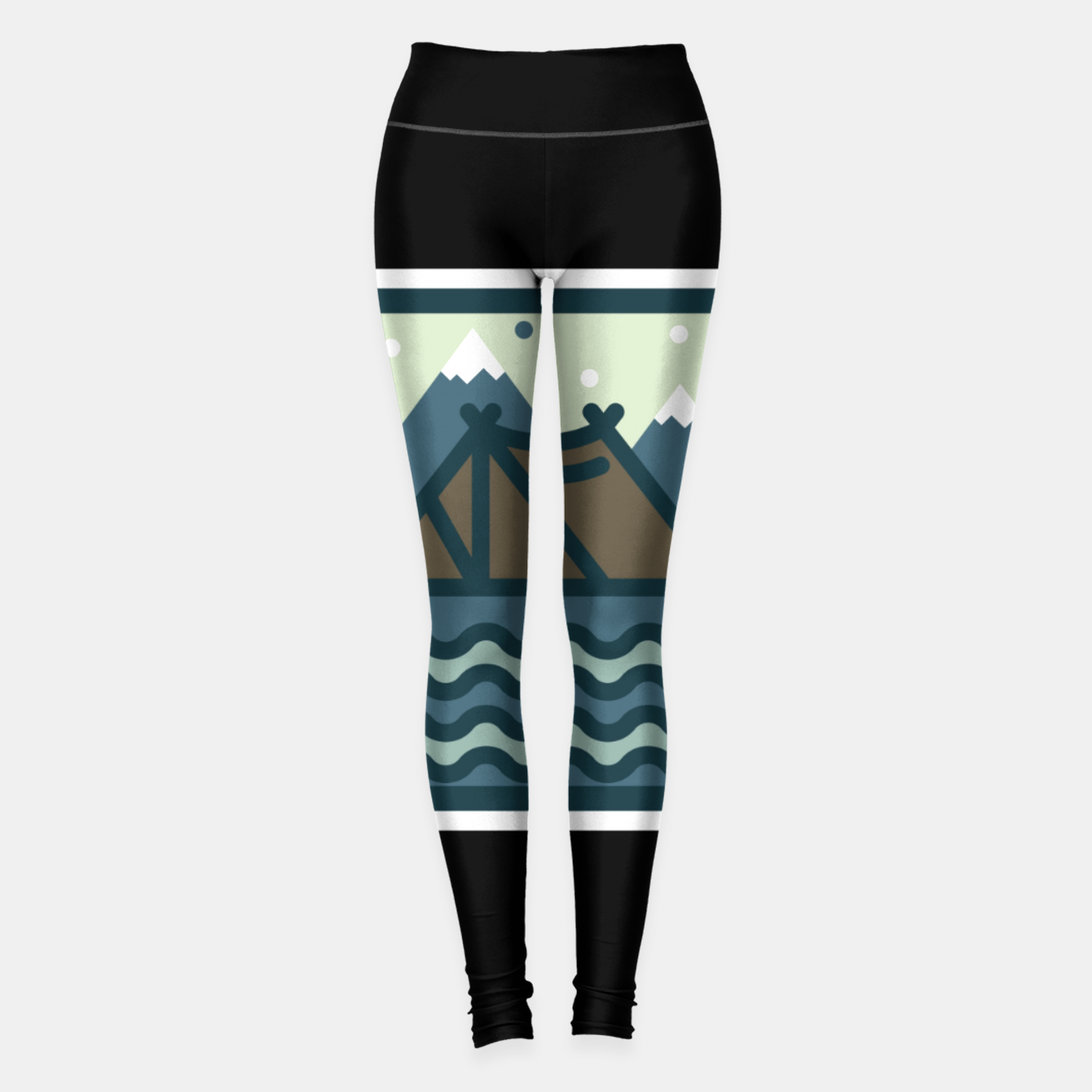 Foto Camp Mountain Beach View Leggings - Live Heroes