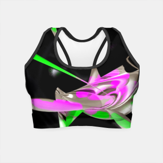 Thumbnail image of organic neon flow  Crop Top, Live Heroes