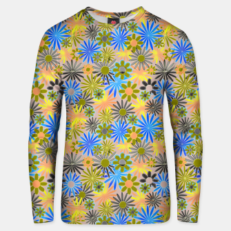 Miniaturka Yellow and Blue Daisies Unisex sweater, Live Heroes