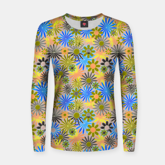 Miniaturka Yellow and Blue Daisies Women sweater, Live Heroes