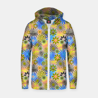 Miniaturka Yellow and Blue Daisies Zip up hoodie, Live Heroes
