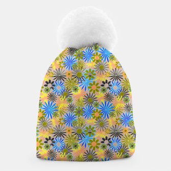 Miniaturka Yellow and Blue Daisies Beanie, Live Heroes