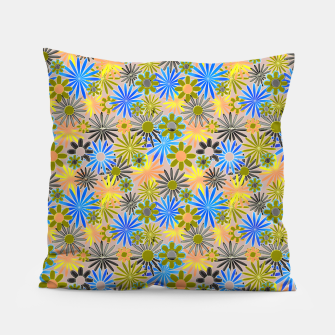 Miniaturka Yellow and Blue Daisies Pillow, Live Heroes